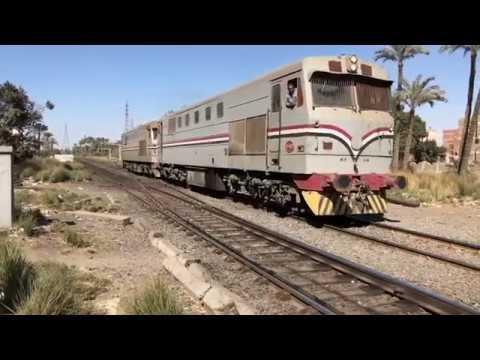 (HD) Egyptian railways 2019 - Trains At Al Badrasheen - 2/3/19