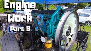 Rebuilding The CRAZY Wrecked 2019 VOLVO VNL Semi Truck | Engine Work |PART 9|