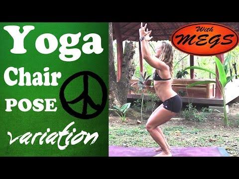 yoga chair  resting pose variation  utkatasana  youtube