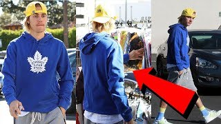 Justin Bieber looks casual while shopping for Halloween costumes in Los Angeles