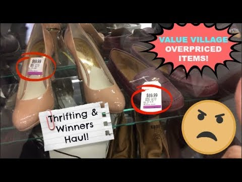 OVERPRICED ITEMS AT THE THRIFT STORE | Value Village | THRIFTING & WINNERS HAUL