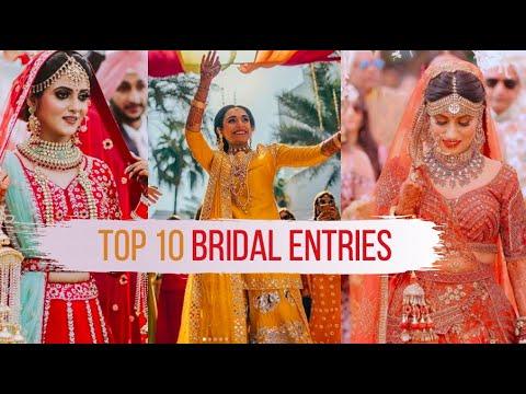Top 10 Bridal Entry Ideas Bridal Dance Solo Youtube