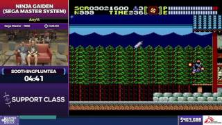 Ninja Gaiden (Sega Master System) by soothingplumtea in 18:22 - SGDQ2017 - Part 58