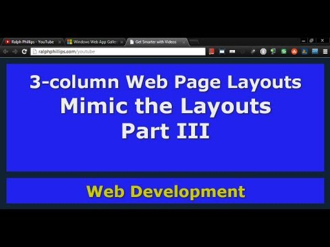 Mimic the Layouts Part 3 (3-column Layouts)