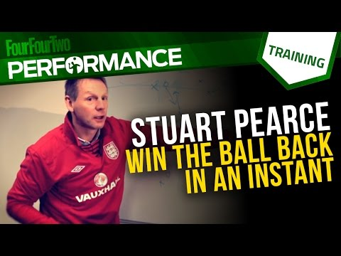 Stuart Pearce | How to defend from the front | Football tactics