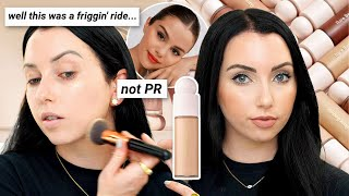 RARE BEAUTY FOUNDATION on Textured Skin | Rare Beauty Liquid Touch Weightless Foundation Review