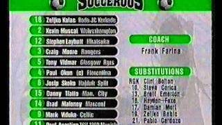 Australian Socceroos Vs Brazil International 1999 Opener