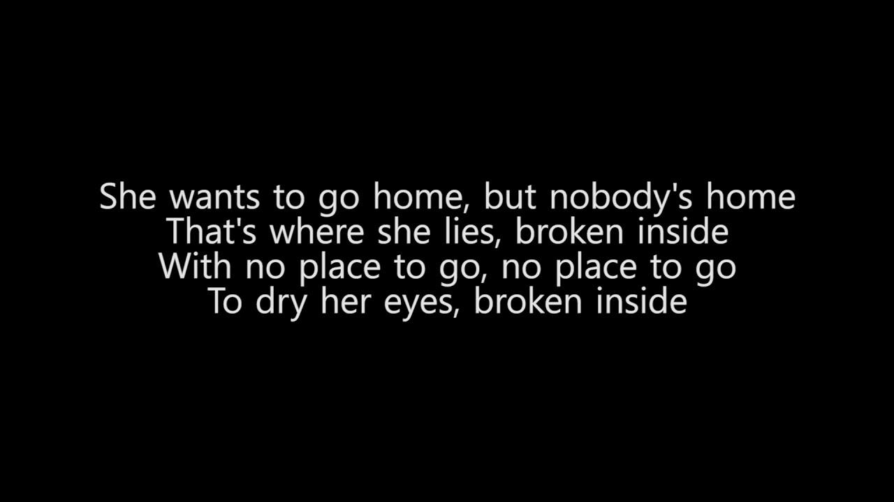 Avril Lavigne Nobody S Home Lyrics Only Youtube Esta canción está incluida dentro del disco. youtube