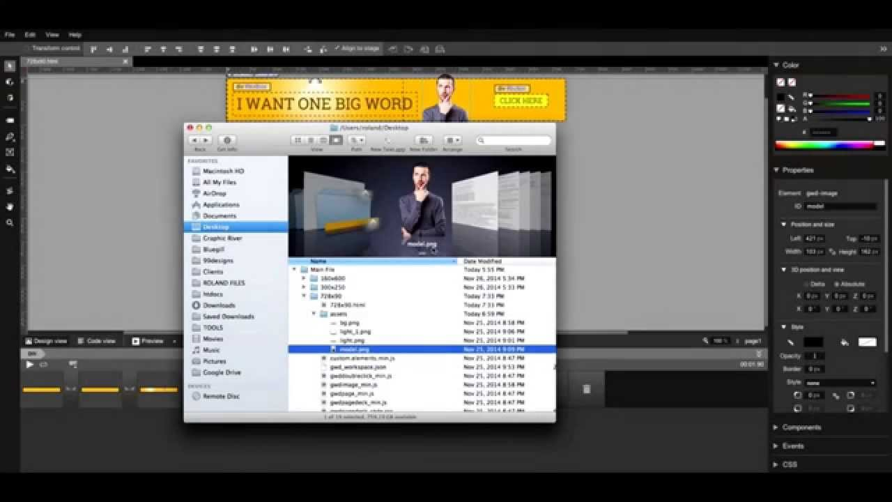 Editing HTML5 Google Web Designer Banner Ad - YouTube