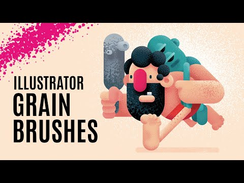 How to DRAW A PORTRAIT, create GRAIN and NOISE TEXTURE with Gigantic Grain Brushes / Tutorial