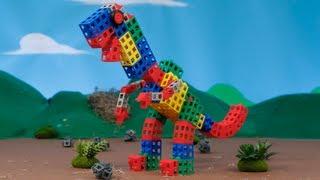 T-Rex, ROK Blocks Snack Time!