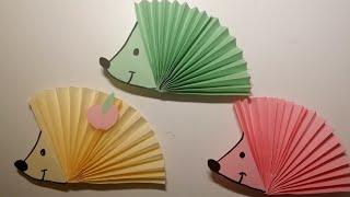 як зробити з кольорового паперу їжачка