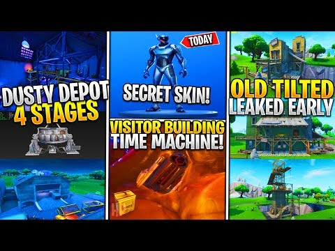 *new*-fortnite:-leaked-dusty-depot-4-stages!-*visitor-beacon*,-secret-free-skin,-tilted-town-early!