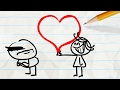 """State of the Heart""  Valentine's Day Pencilmation Cartoon 