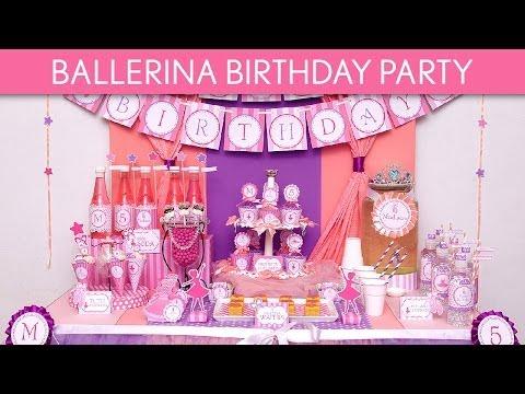 Ballerina Birthday Party Ideas // Ballerina - B86