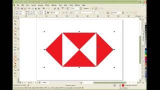 匯豐銀行LOGO畫法 How to draw HSBC logo with CorelDRAW