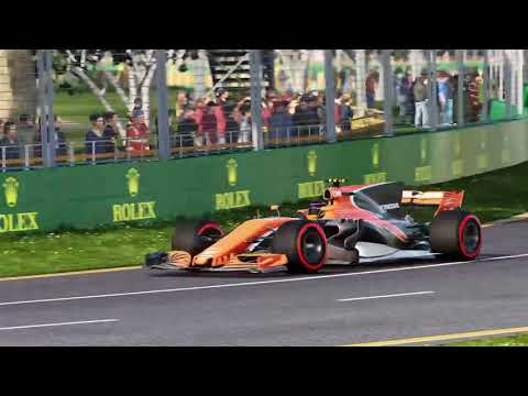 F1 2017 - Career season 1 Danica Patrick at McLarenF1 race 1 Australië