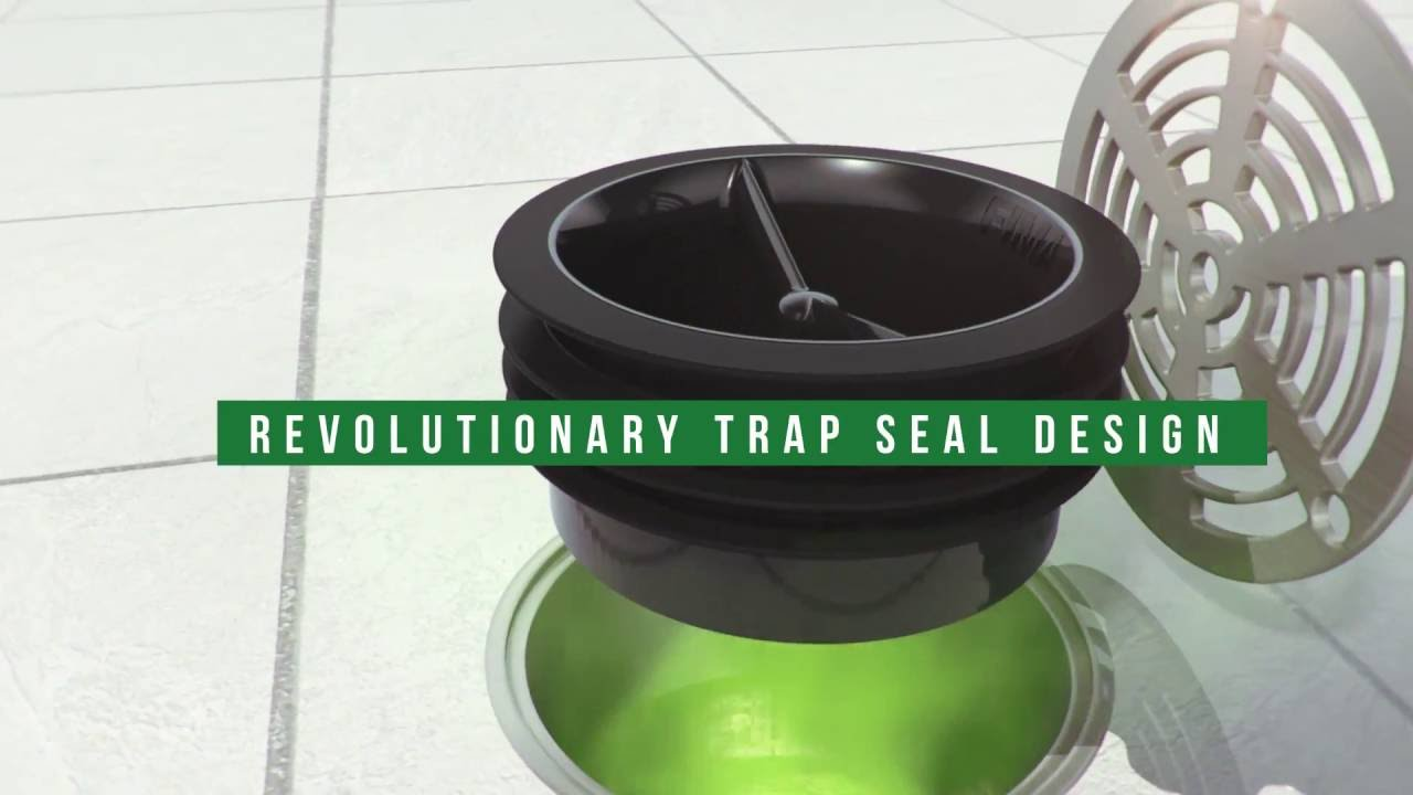 Smart Floor Waste Green Drain Waterless Trap Seal For Floor Drains Easy To Install Trap Primer Alternative