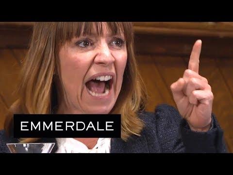 Emmerdale - Rhona Shouts Out That Pierce Raped Her