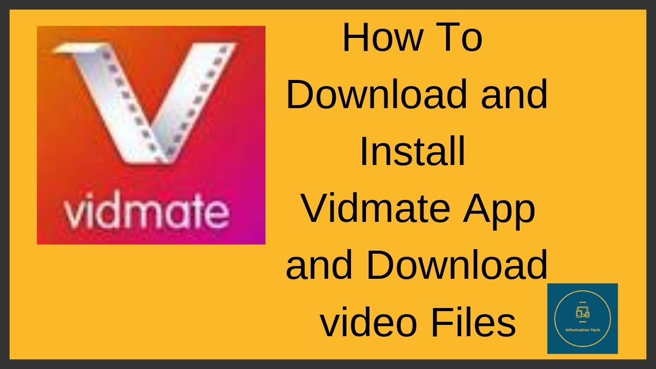 vidmate App || How to Download | Install | download video || Information  Tech