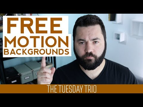 3 Free Motion Backgrounds Sites [The Tuesday Trio]