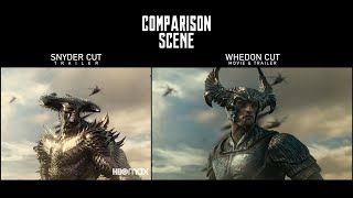 Comparison Scene: Snyder Cut (Official Trailer) - Whedon Cut (Official Movie & Trailer)