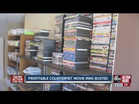 Agents seize 8,000 counterfeit DVDs and fake movies from Polk County crime ring