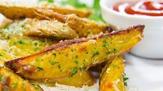 Картофель по деревенски с Сырным соусом
