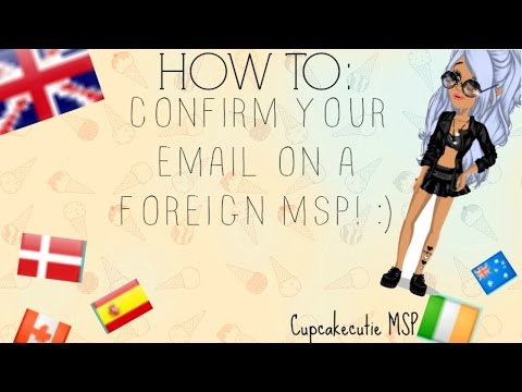 How to - confirm your email on a foreign MSP!