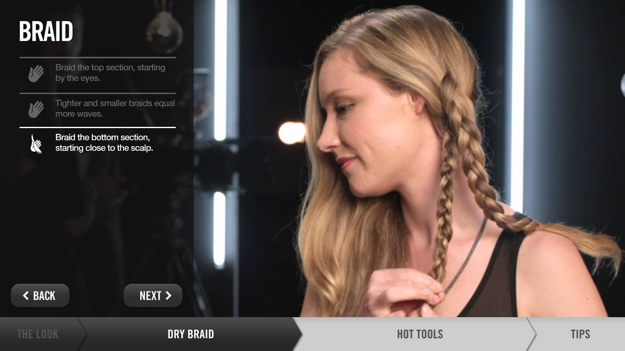 Tip On How To Create Beachy Waves Using Braids Or A Hair Iron  Redken   Youtube