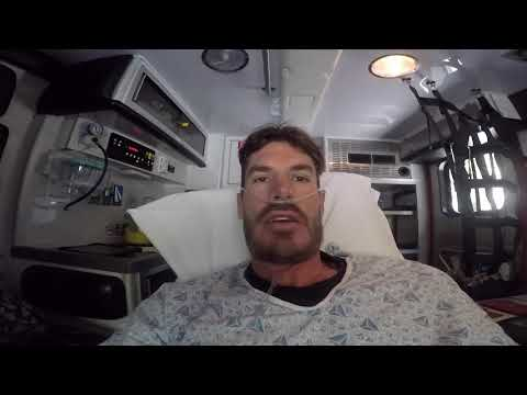 Compound Leg Fracture From Over Shooting A Snowboard Jump