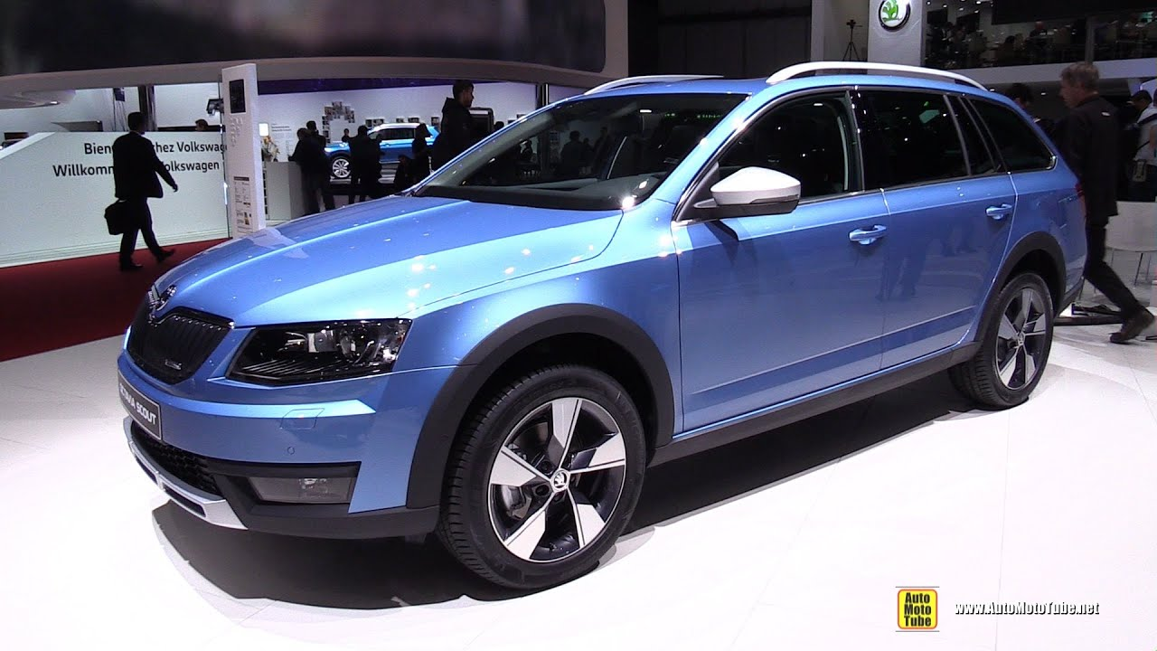 2016 skoda octavia combi scout 2 0 tdi exterior and. Black Bedroom Furniture Sets. Home Design Ideas