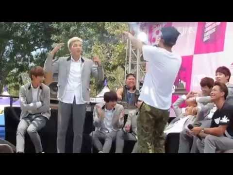 [Fancam] Rap Monster (English) & Parker (Korean) Freestyle