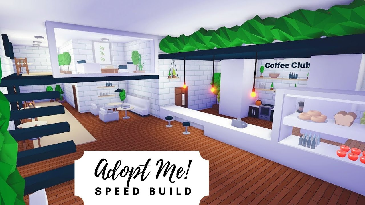 Tree House Plant Cafe + Home Speed Build 🌿 Roblox Adopt Me ...