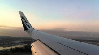 Landing at Vancouver International Airport YVR - Westjet 737-800 WS1865 Mar 7, 2011 7:12am