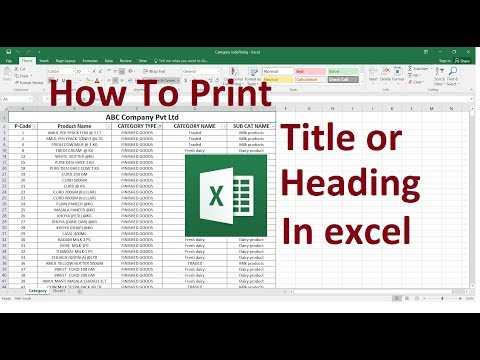 How To Print Title Or Heading On Every Page In Excel