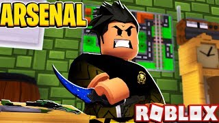 KNIFE ONLY CHALLENGE in Arsenal (Roblox)