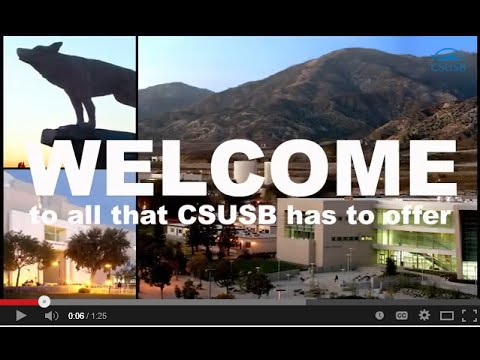 Welcome to CSUSB - 2015