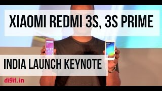 Xiaomi Redmi 3s, Redmi 3s Prime India Launch Keynote | Digit.in