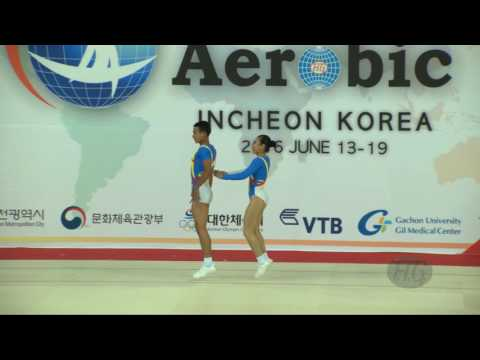 Cambodia  (CAM) - 2016 Aerobic Worlds, Incheon (KOR) - Qualifications Mixed Pair