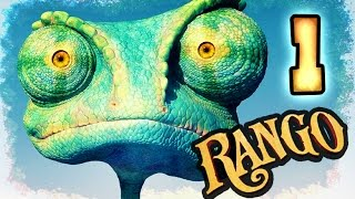 Rango Walkthrough Part 1 -- 100% Items (PS3, X360, Wii) Level 1 - Jenkins Cousins