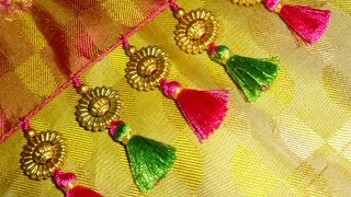 Kuchu design on saree # 2 /How to make saree kuchu