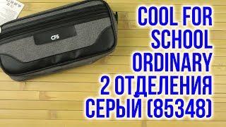 Распаковка Cool For School Ordinary 2 отделения Серый 85348