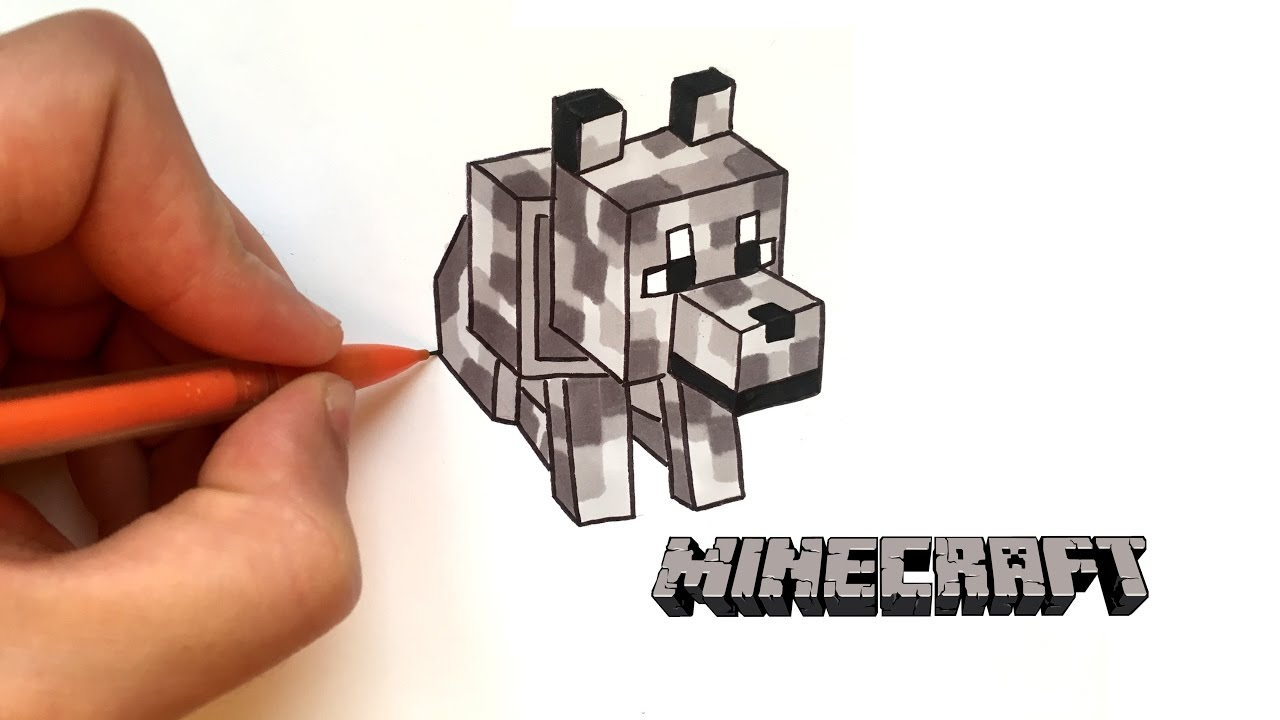 How To Draw A Wolf Minecraft