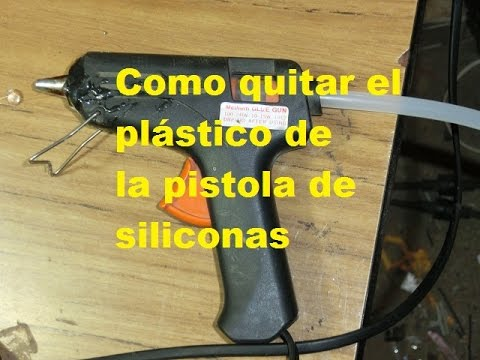 Como quitar el pegamento de la pistola de siliconas youtube - Quitar manchas de la pared ...