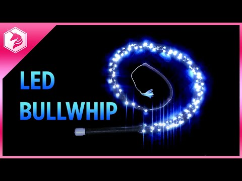 LED Bull Whip DIY Tutorial - Motion and Sound Reactive 6 Foot Bullwhip with Lights #adafruit