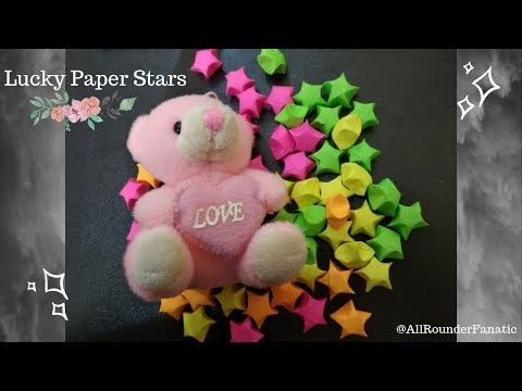 How to make Origami Lucky Paper Stars   3D Paper stars   DIY Lucky Stars