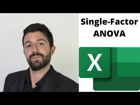 Single Factor/One-way ANOVA In Excel 2016