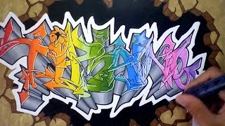"""Graffiti RAINBOW colors # speed drawing """"TIPHAINE"""" [HD]"""