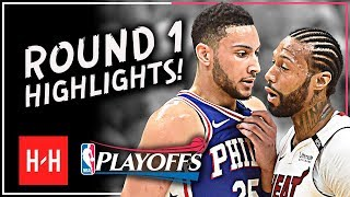ROTY? Ben Simmons Full ROUND 1 Highlights vs Miami Heat | All GAMES - 2018 Playoffs